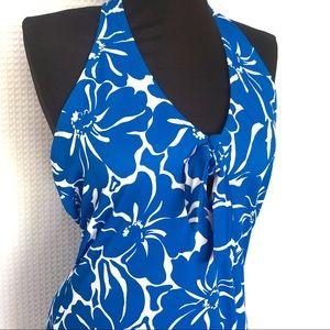 ISLANDER Hawaiian Print One Piece Swimsuit Size 14